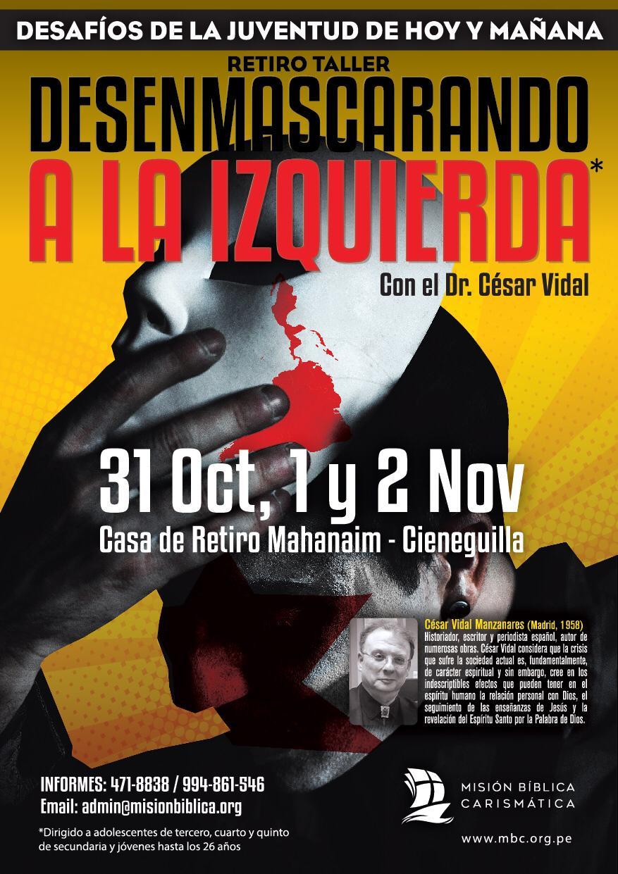 Retiro - taller 'Desenmascarando a la Izquierda' con el Dr. César Vidal