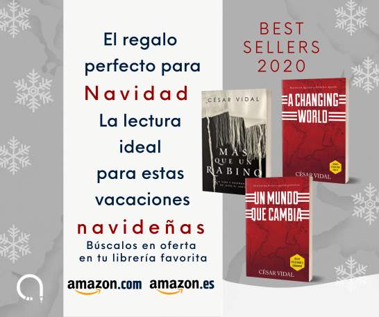 El regalo perfecto para Navidad, la lectura ideal para estas vacaciones navideñas, consigue ahora los últimos libros de César Vidal