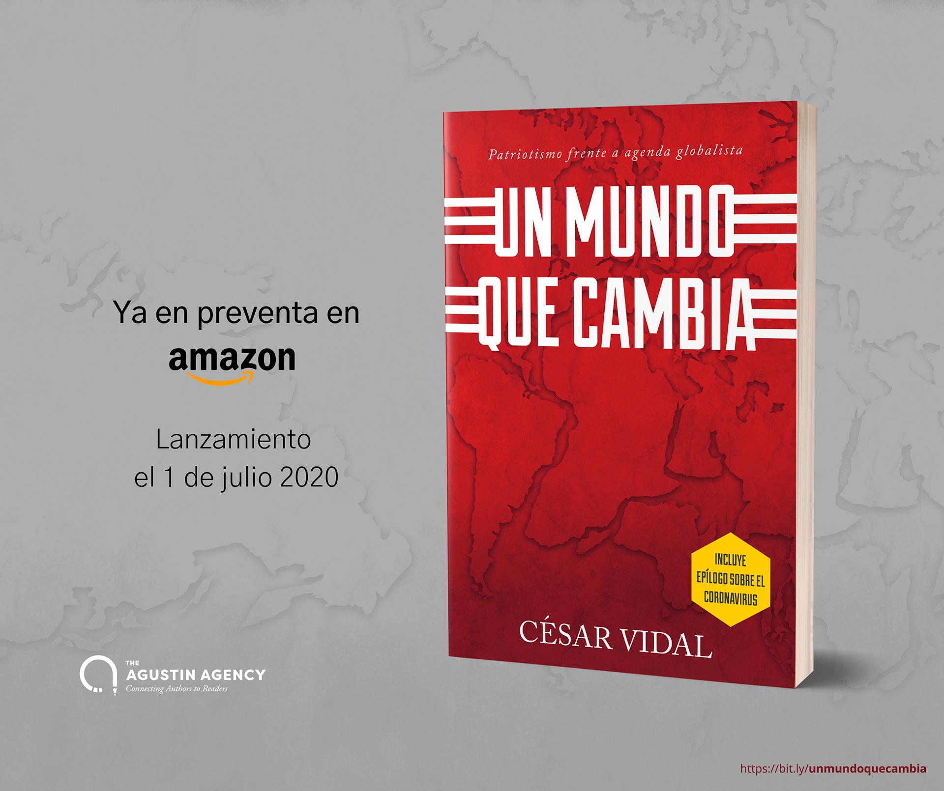 Ya puedes reservar el libro de César Vidal Un mundo que cambia en Amazon