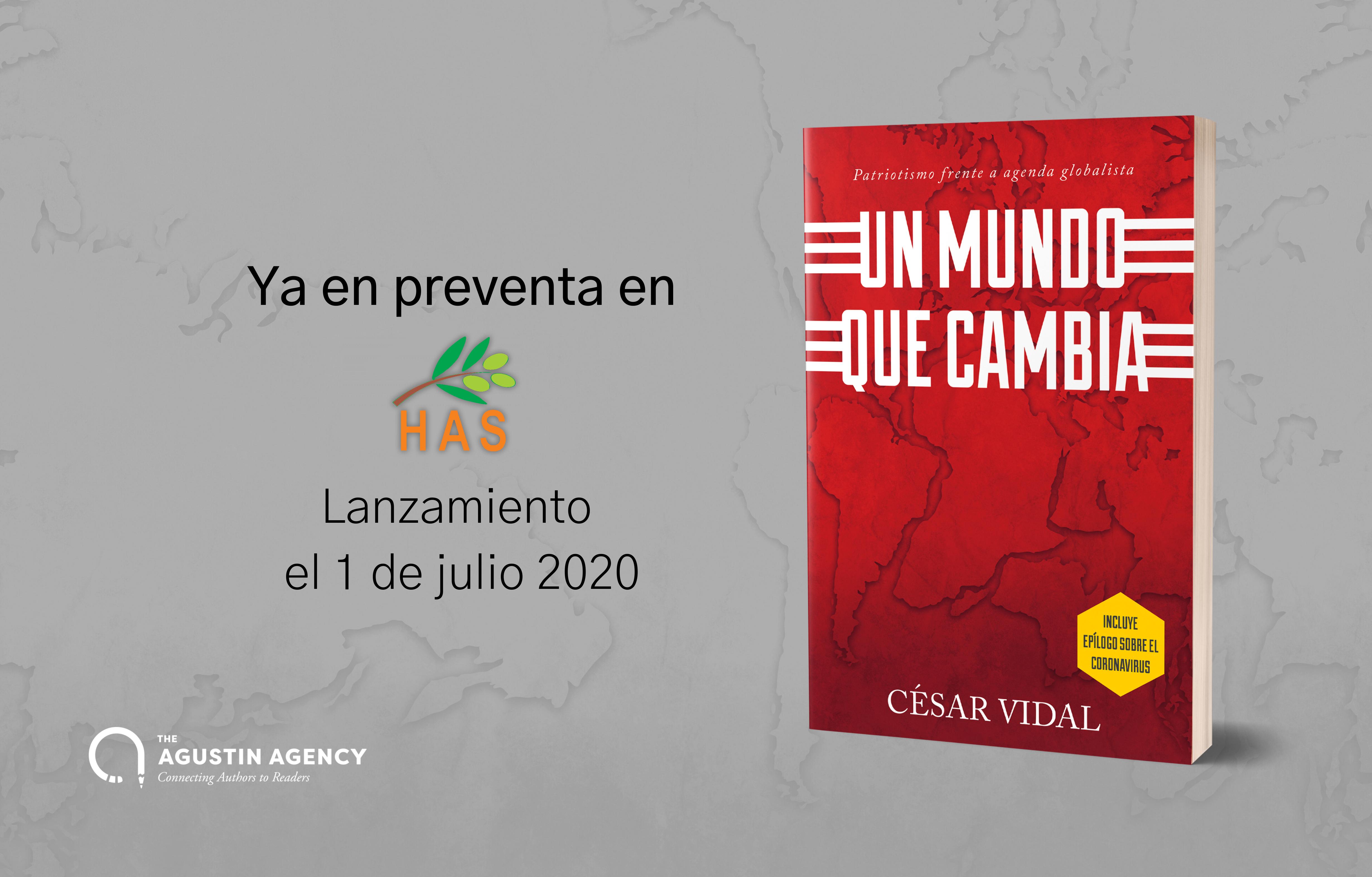 Ya puedes reservar el libro de César Vidal Un mundo que cambia en HAS