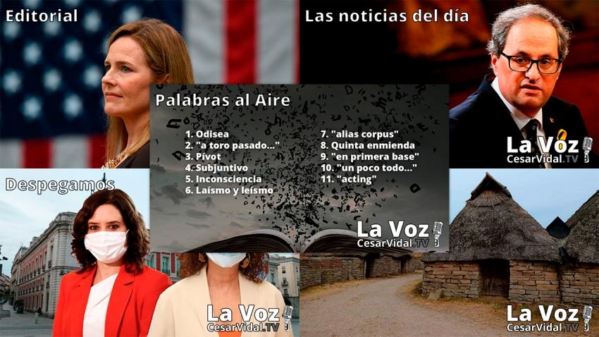 Programa Completo de La Voz de César Vidal - 28/09/20