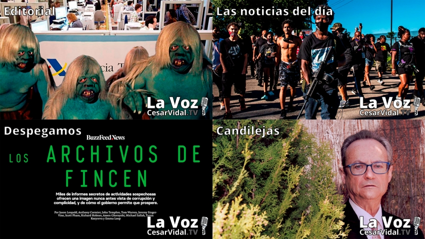 Programa Completo de La Voz de César Vidal - 25/09/20