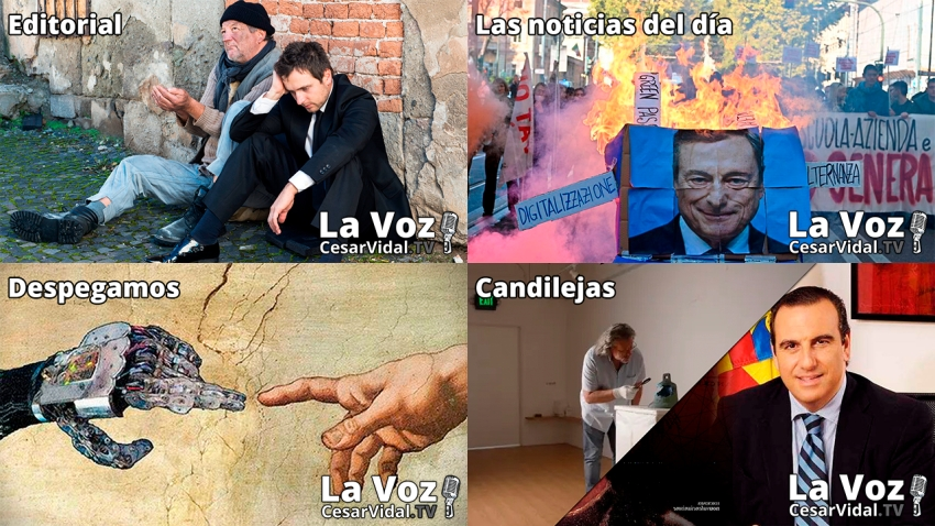 Programa Completo de La Voz de César Vidal - 15/10/21