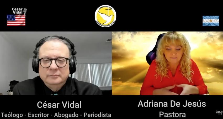 César Vidal entrevistado por Adriana De Jesús de Ejército de Dios