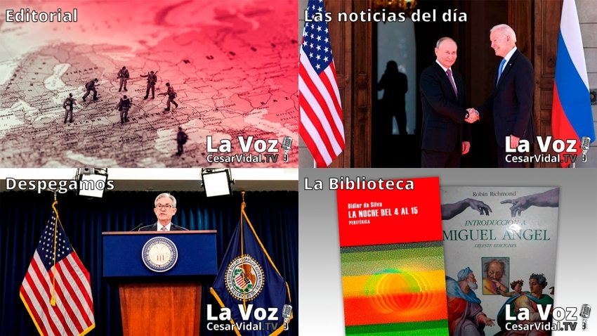 Programa Completo de La Voz de César Vidal - 17/06/21